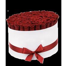 101 импортная роза в коробке
