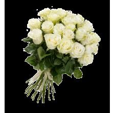 25 белых роз (импорт)