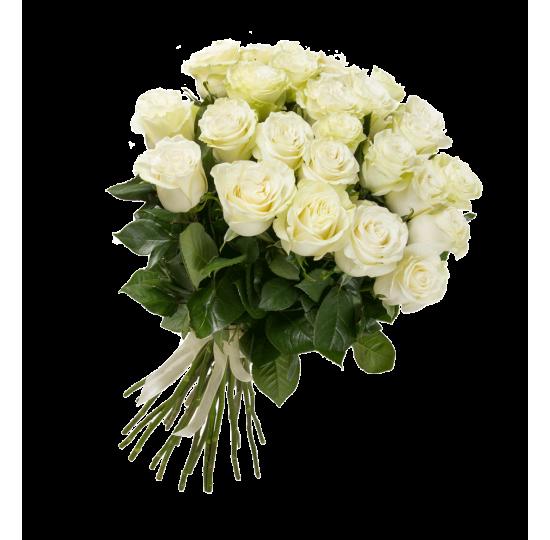 """Букет """"25 белых роз"""" (импорт)"""