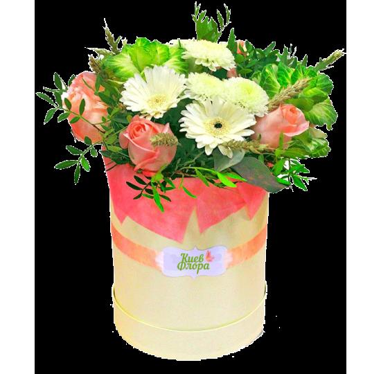 """Коробка с цветами """"Летний танец"""""""