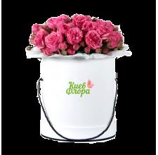 """Шляпная коробка """"Садовые розы"""""""