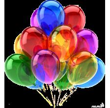 15 прозрачных гелиевых шаров