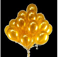 15 золотых шариков