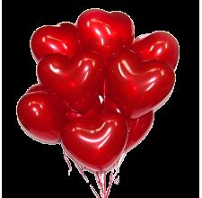 9 шариков в виде сердца