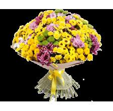 25 хризантем от флориста