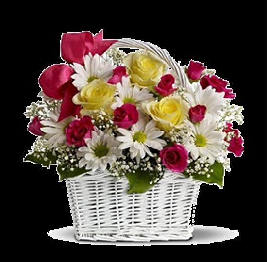 """Корзина цветов """"Чудесный день"""""""