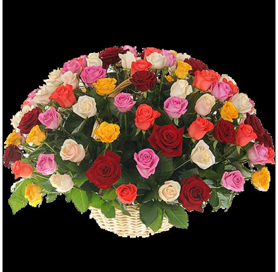 """Корзина цветов """"Разноцветная мечта"""""""