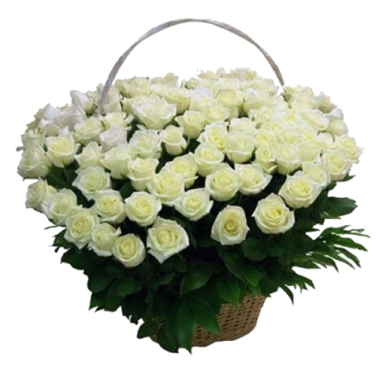 """""""Корзина 151 белая роза"""""""