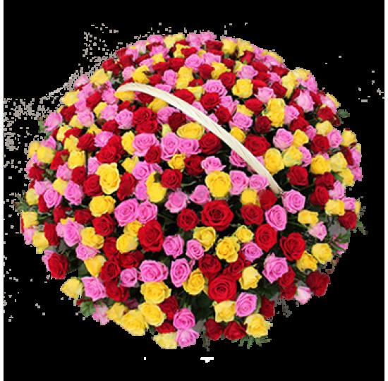 """Букет """"201 разноцветная роза"""""""