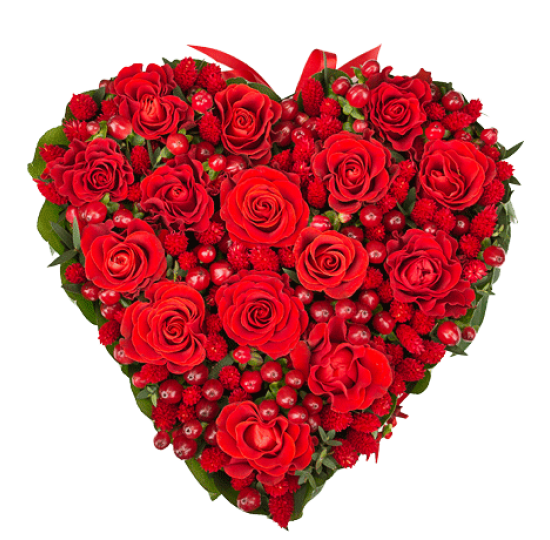 "Сердце из цветов ""Влюблённое сердце"""