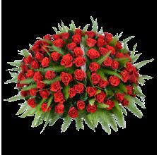 101 красная роза эль-торо в корзине