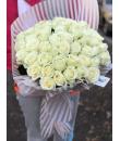 """Букет 25 белых роз """"Очарование"""""""