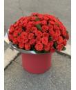 101 красная роза эль-торо в шляпной коробке