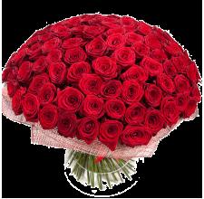 101 красная роза Доставка цветов Киев. Заказ цветов Киев.