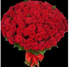 """101 красная роза """"Премиум"""" Доставка цветов Киев. Заказ цветов Киев."""