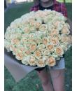 """Букет """"101 кремовая роза"""""""