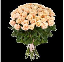 "25 кремовых роз  ""Дон Жуан"""
