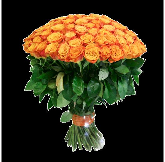 51 или 101 оранжевая роза