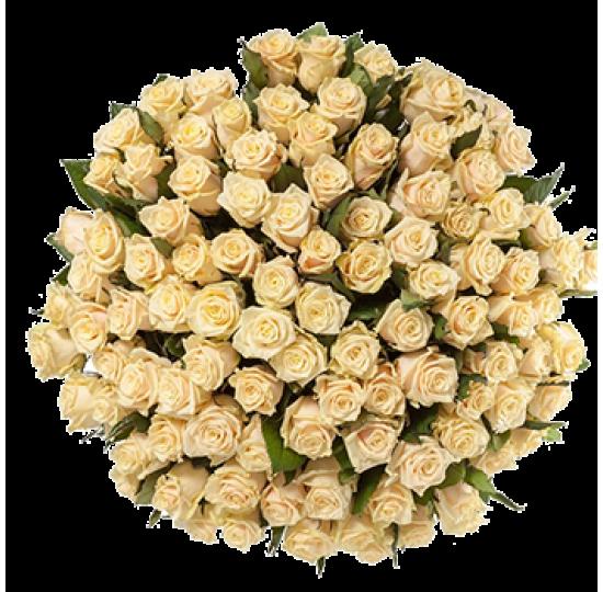"""Букет """"101 персиковая роза"""""""