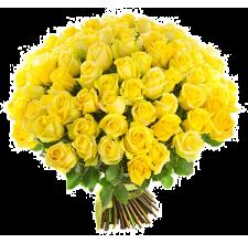 101 жёлтая роза