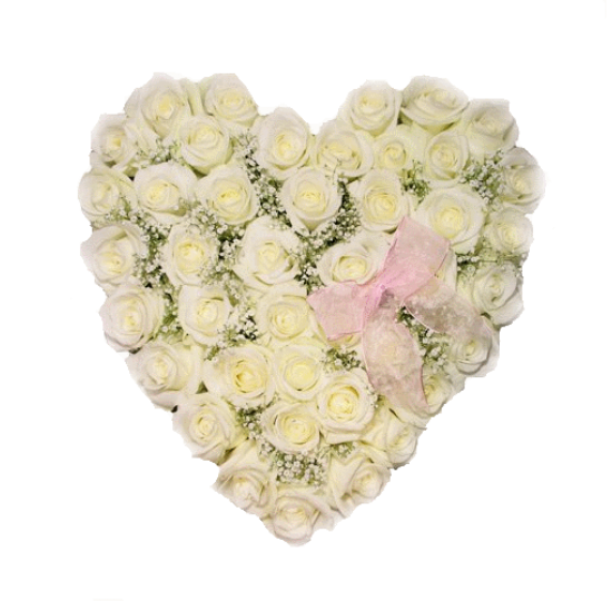"Сердце из цветов ""White love"""