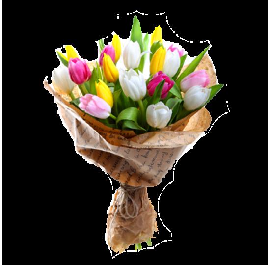 """Букет тюльпанов """"Разноцветное настроение"""""""