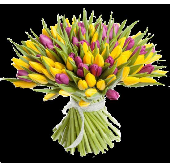 """Букет тюльпанов """"Яркий миг"""""""