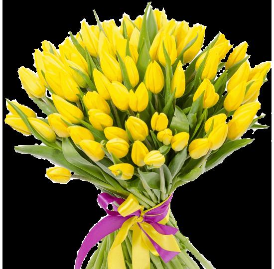 """Букет тюльпанов """"Солнечный день"""""""