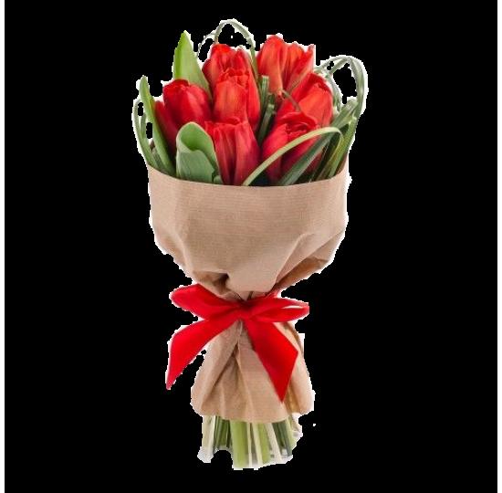 """Букет """"7 красных тюльпанов"""""""