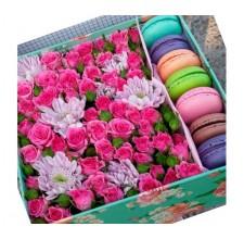 """Коробка с цветами """" Радость"""""""