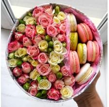 """Коробка с цветами """" Нежность"""""""