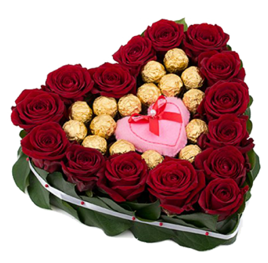 """Сердце из цветов """"Для любимой"""""""