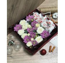 """Коробка с цветами """" Sweet """""""