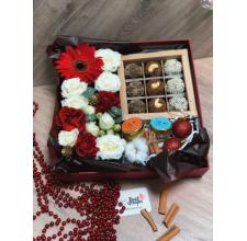 "Коробка с цветами "" Крафт """
