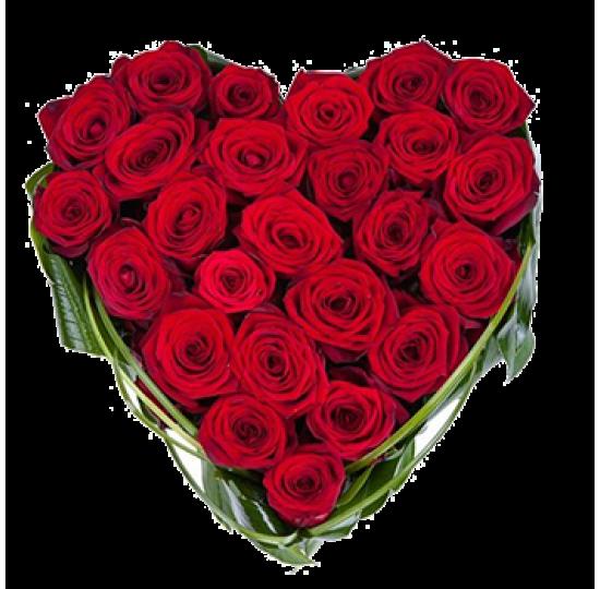 "Сердце из цветов ""Люблю"""