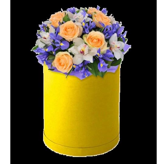 """Коробка с цветами """"Нежный ветерок"""""""