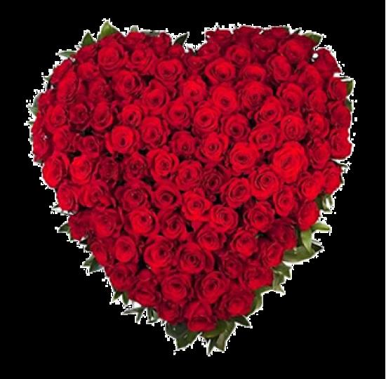 "Сердце из цветов ""Купидон"""